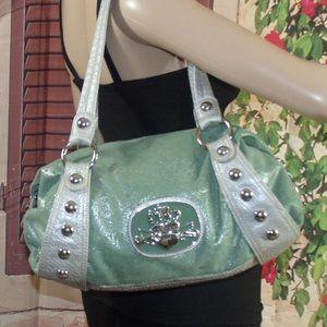 Kathy Van Zeeland Key Lime Sparkle Slouchy Bag
